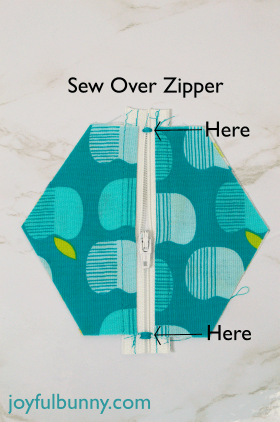 sew across zipper